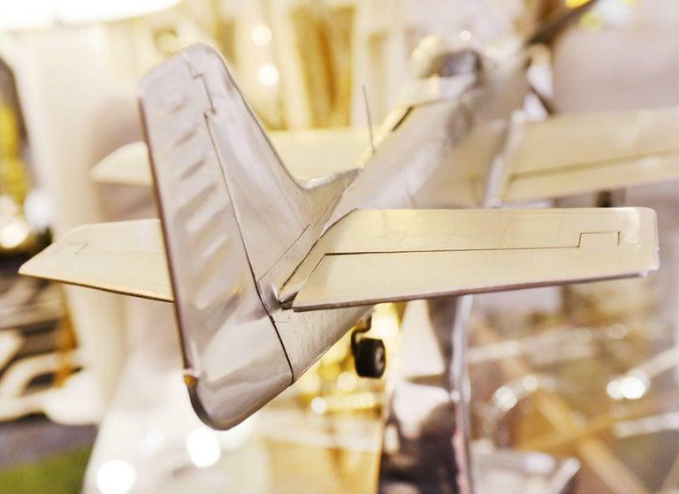 Mustang P51 Aircraft Model in Aluminium Foil For Sale 1
