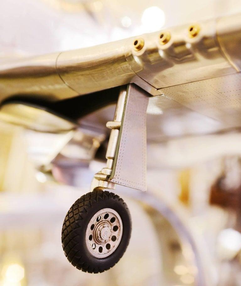Mustang P51 Aircraft Model in Aluminium Foil For Sale 2