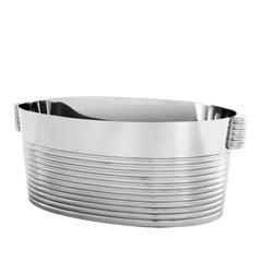 Liner Champagne Cooler in Polished Stainless Steel