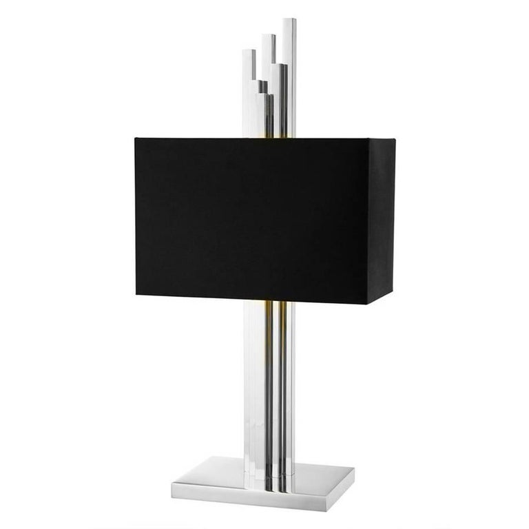 Contemporary Strada Table Lamp in Gold or Nickel Finish For Sale