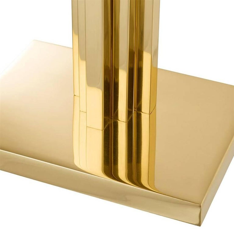 Polished Strada Table Lamp in Gold or Nickel Finish For Sale