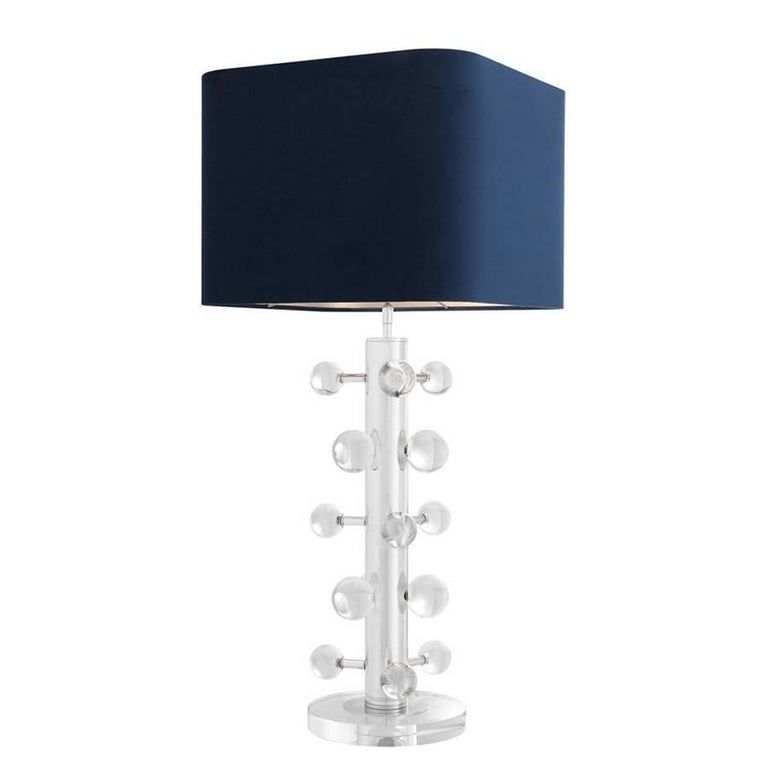 Bubbles Nickel Table Lamp in Nickel Finish