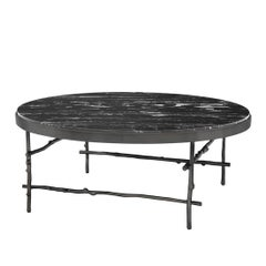 Black Branches Coffee Table with Black Marble Top