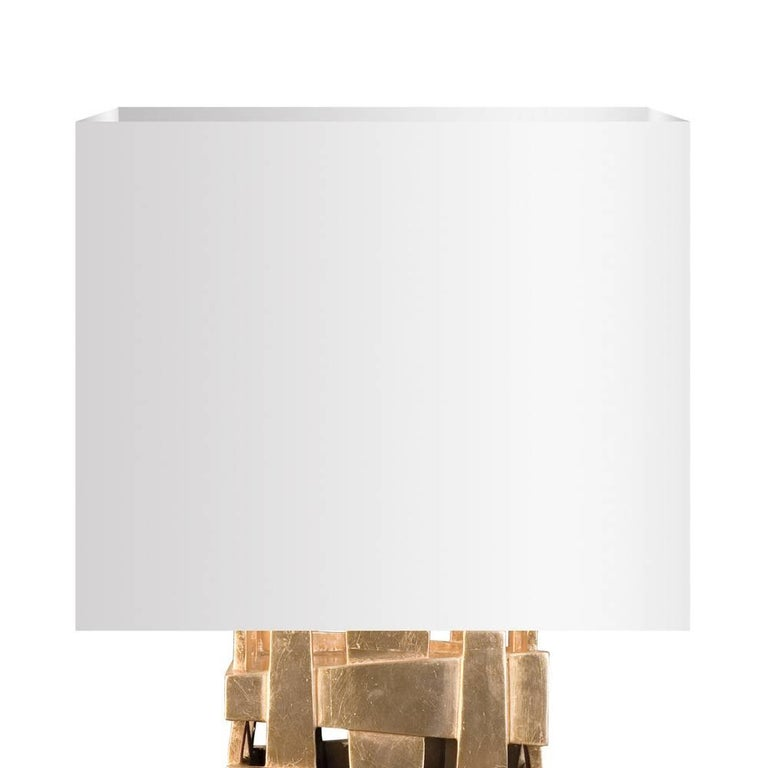English Cruise Table Lamp with Gold Paint For Sale