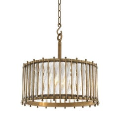 Mezzo Large Chandelier with Antique Brass