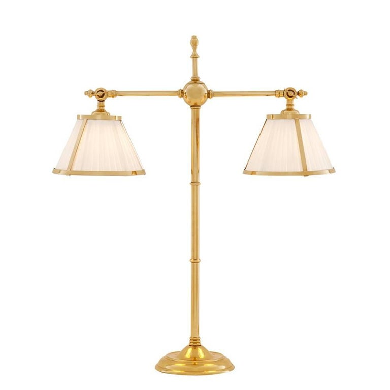 Tolight Table Lamp in Polished Brass or Nickel Finish