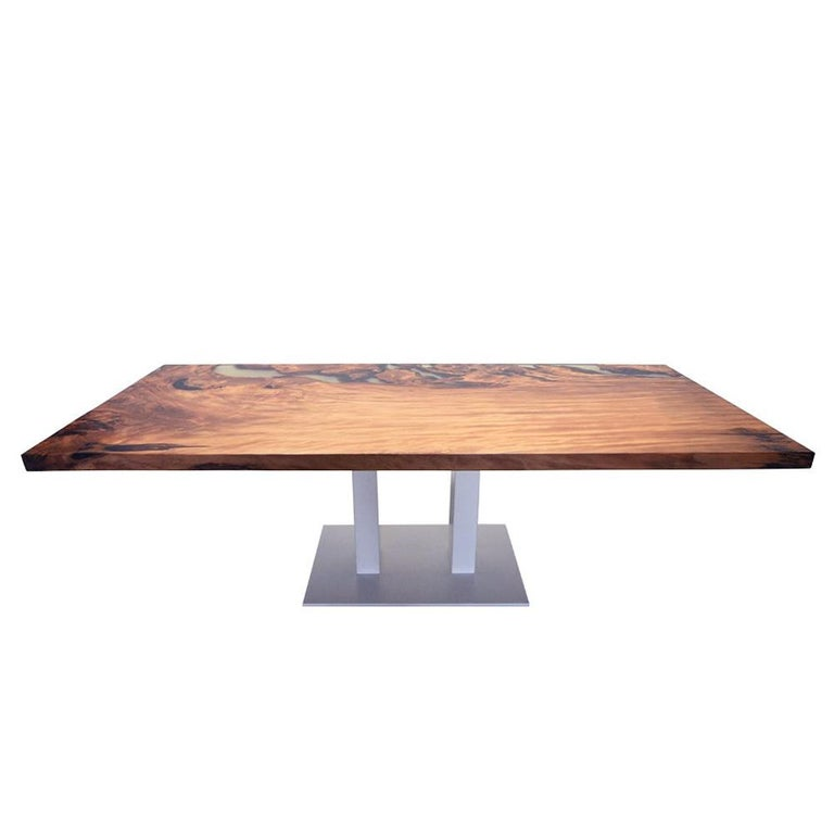 New Zealand Kauri Wood with Resin Dinning Table For Sale