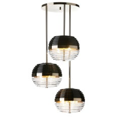 Duke Triple Suspension with Black Glass Shade