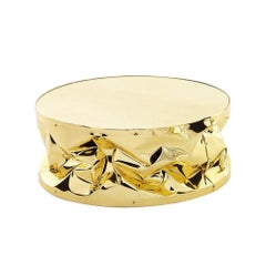 Bumpy Coffee Table Gold or Chrome Finish