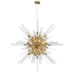 Fall Sputnik Suspension with Crystal Glass Tubes