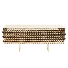 Tide Gold Sideboard in Gold Finish