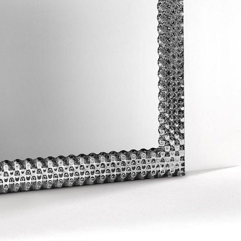 Contemporary Glass Pearl Square Mirror For Sale