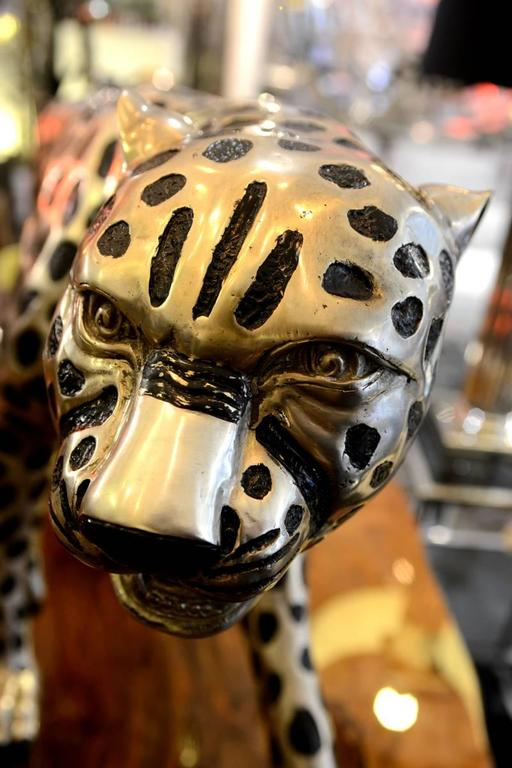 Cheetah in Black and Silvered Bronze In Excellent Condition For Sale In Paris, FR
