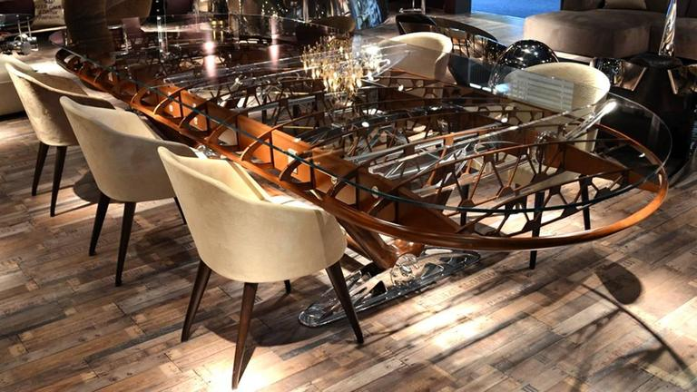 Boeing Bi-Plan Wing Conference Table In Excellent Condition For Sale In Paris, FR
