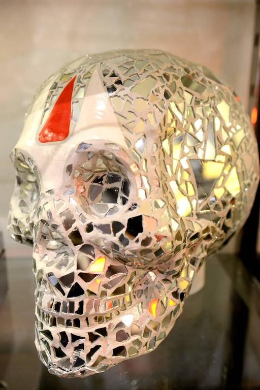 Contemporary Sculpture Artist Proof Skull Vanity For Sale