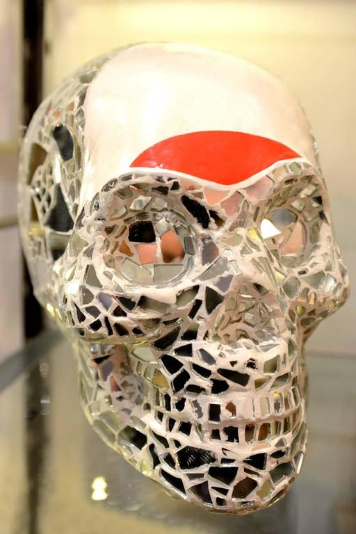 Sculpture artist proof skull vanity.