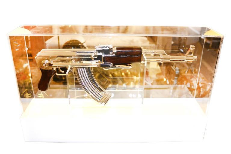 AK-47 in Silver Finish Art Sculpture Demilitarized For Sale 2