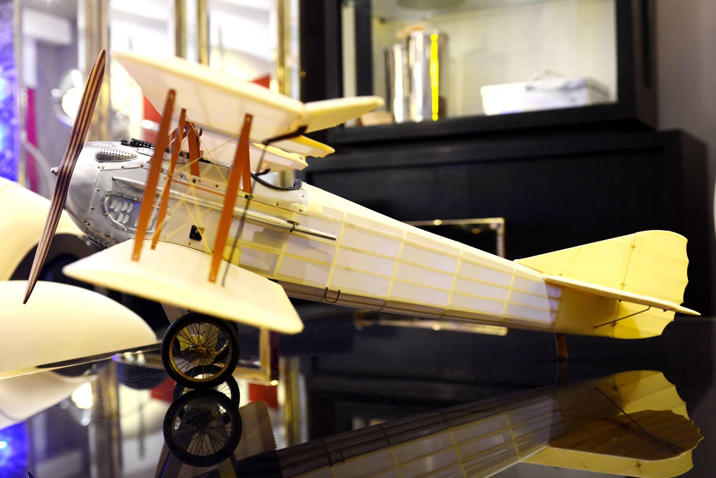 Old Charles Model Aeroplane Transparent Spad Plane Type For Sale at ...