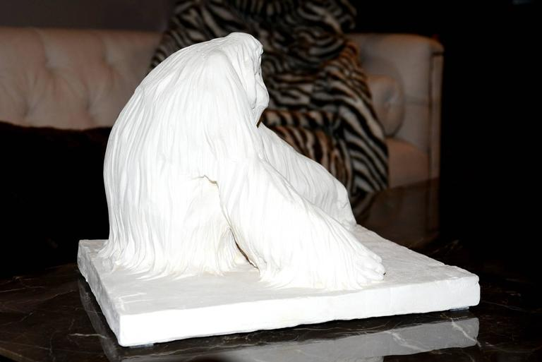 Contemporary Sculpture Orangoutan in Plaster Limited Edition 65/100 by J.B Vandame, 2015 For Sale