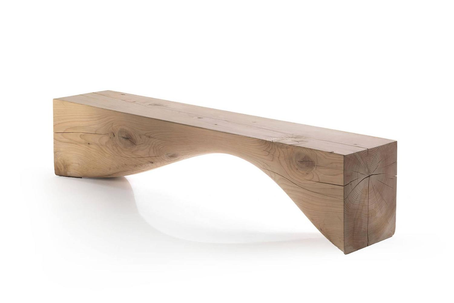 Bench Line In Solid Cedar Wood For Sale At 1stdibs