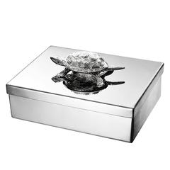 Turtle Jewelry Box Stainless Steel and Nickel Finish