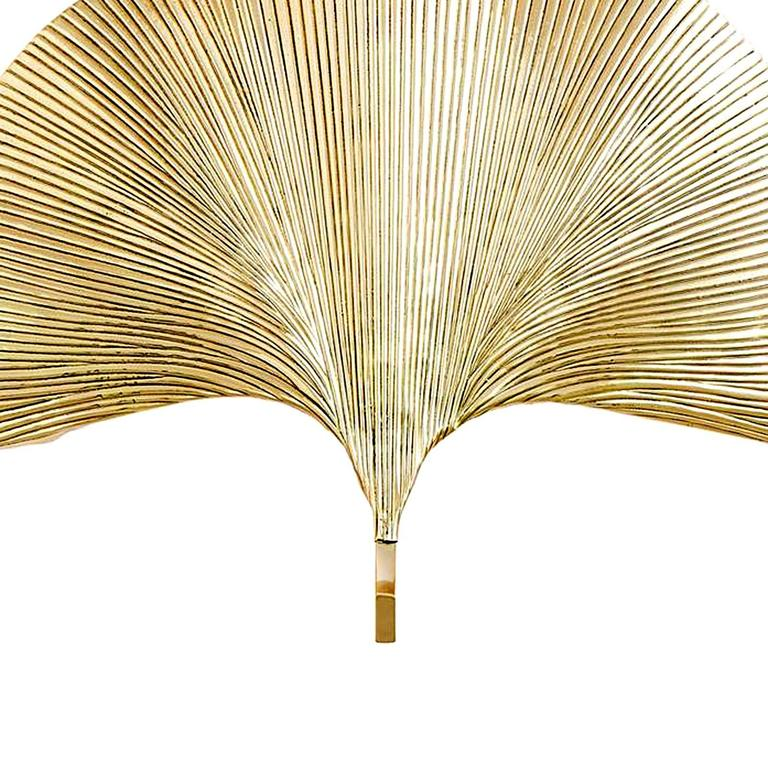 Polished Brass Wall Lamps : Ginko Biloba Wall Lamp in Polished Brass For Sale at 1stdibs
