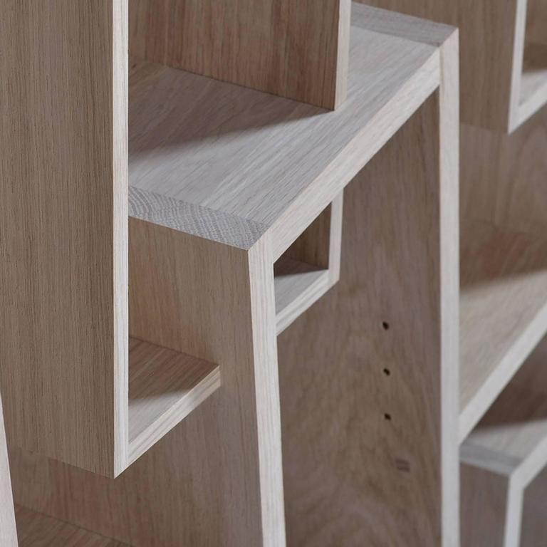 Tilted Shelve in Solid French Oak For Sale 2