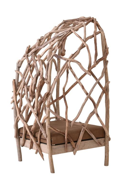 Robinson Bergère Chair in Driftwood 3