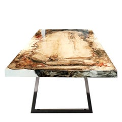 Artistica Table Hand-Painted Lacquered Solid Wood