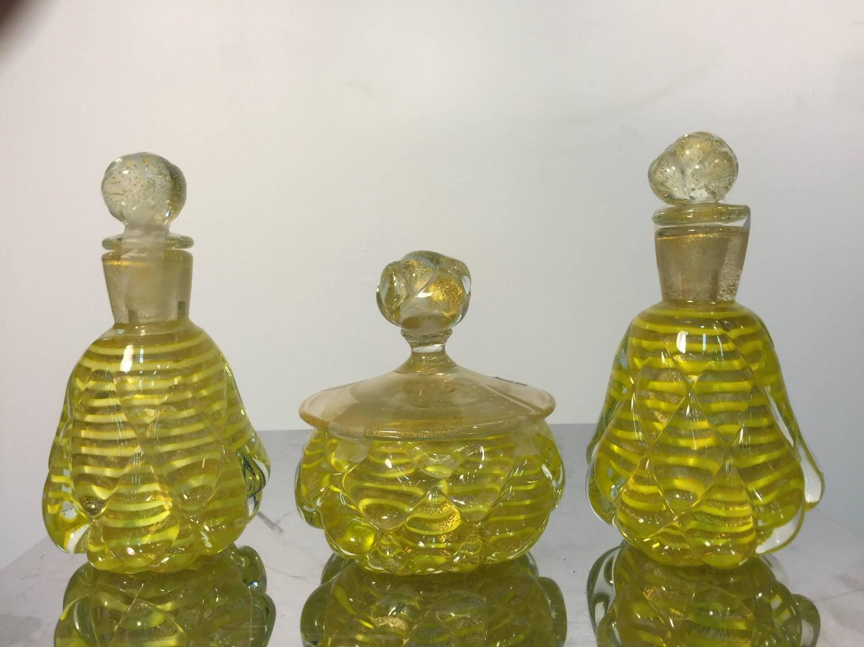 Modern Italian Murano Glass Vanity Set with Perfume ...