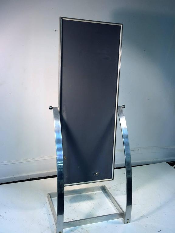 Spectacular milo baughman modernist full length mirror for for Floor length mirror for sale