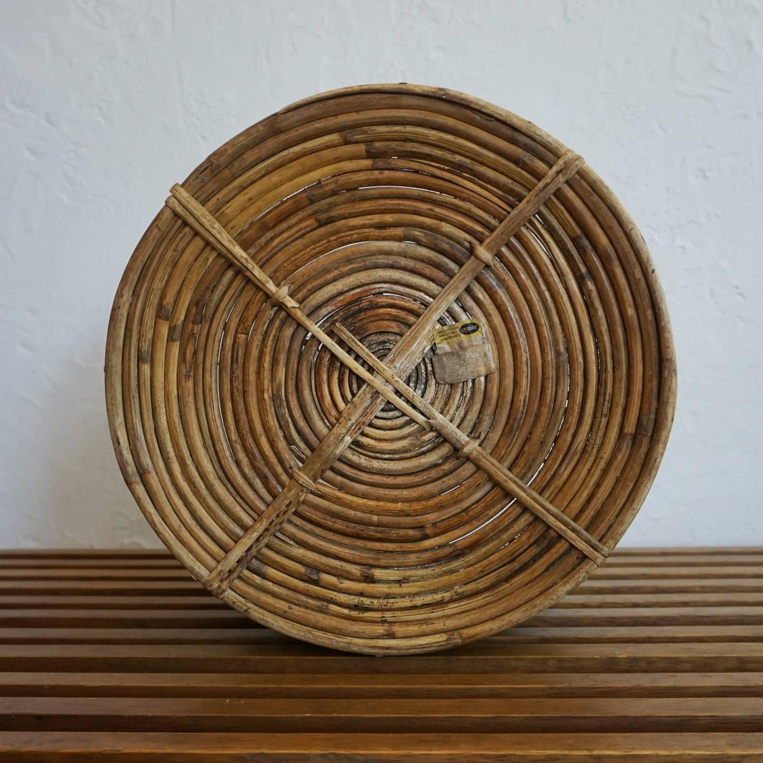 Basket Making Supplies San Diego : John risley for raymor rattan and copper bowl or basket