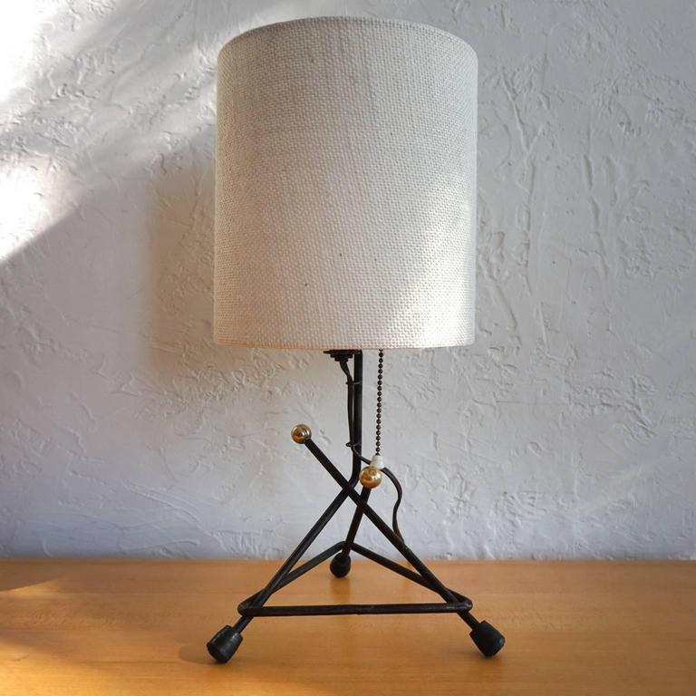 1950s Modernist Mexican Iron Lamp 3