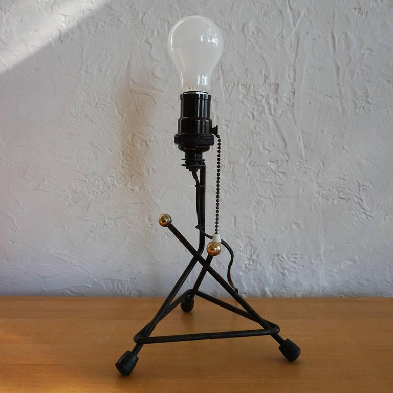 1950s Modernist Mexican Iron Lamp 4