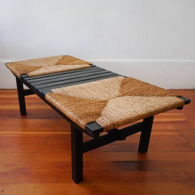 1950s Japanese Bench With Rope Seats At 1stdibs