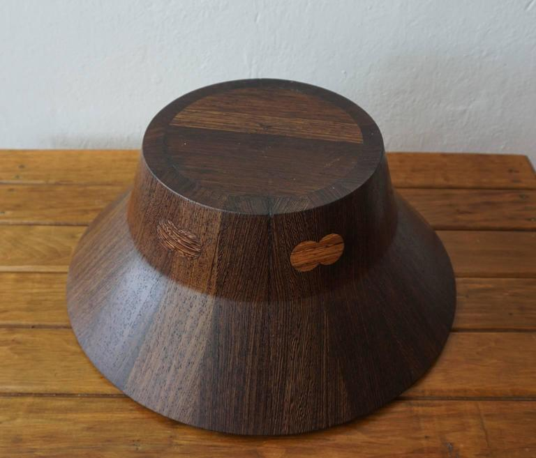 Wenge Dansk Rare Woods Bowl and Tongs by Jens Quistgaard For Sale 3