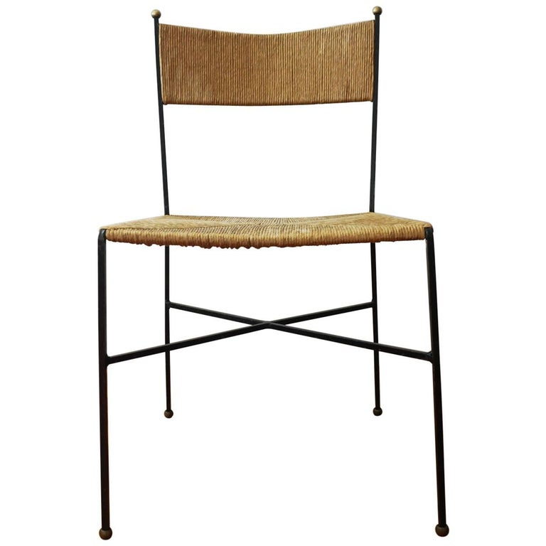 Milo Baughman for Murray Furniture Iron and Rush Chair