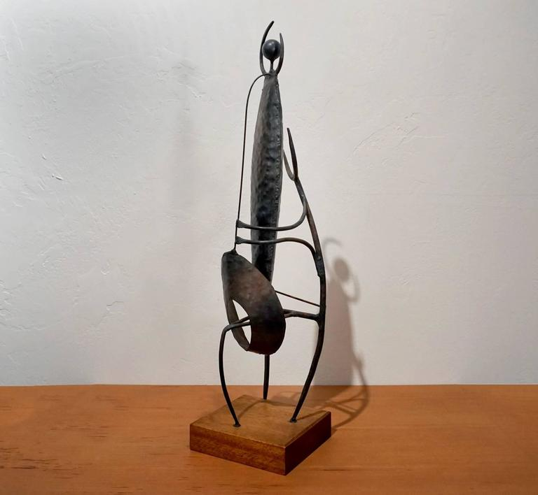 Mid-Century Modern Modernist Welded Steel Sculpture by Charles Luedtke For Sale