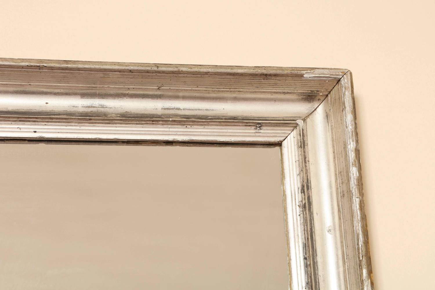 French 19th Century Silvered Mirror Frame For Sale At 1stdibs