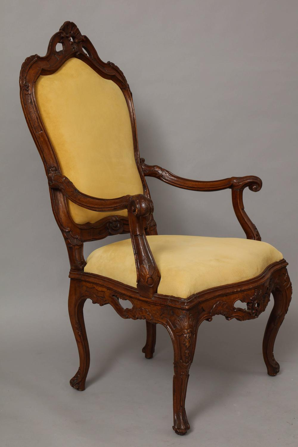 Large venetian rococo carved walnut armchair for sale at for Oversized armchairs for sale