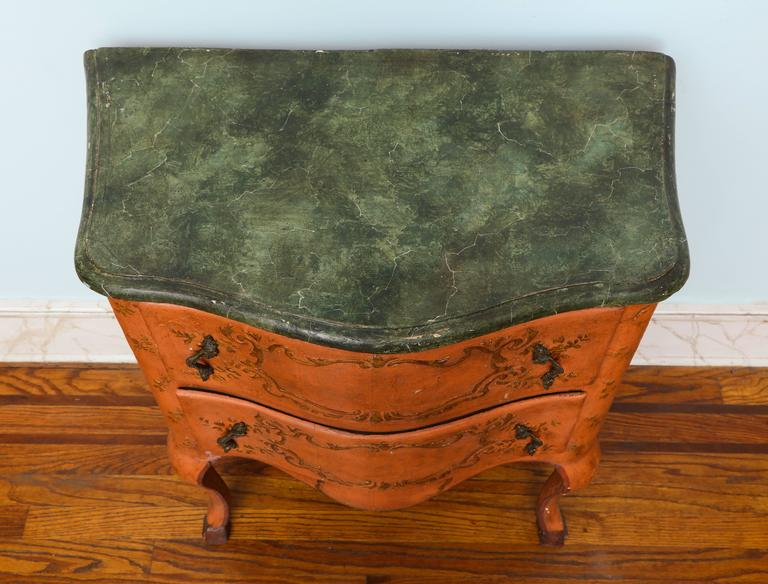 Rococo Sicilian Painted Chest, 18th Century In Excellent Condition For Sale In New York, NY