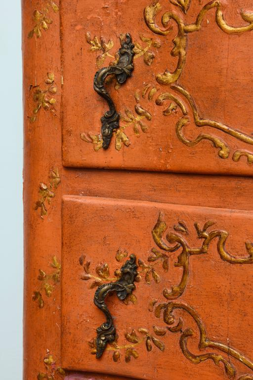 Rococo Sicilian Painted Chest, 18th Century For Sale 2