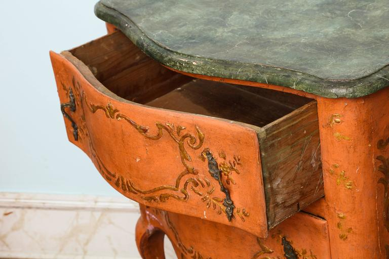 Mid-18th Century Rococo Sicilian Painted Chest, 18th Century For Sale