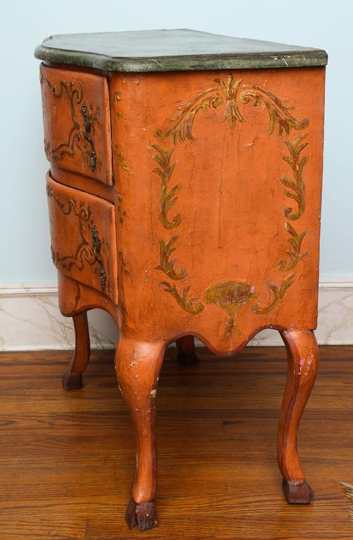 Italian Rococo Sicilian Painted Chest, 18th Century For Sale