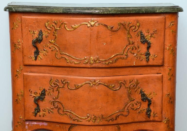Rococo Sicilian Painted Chest, 18th Century For Sale 5