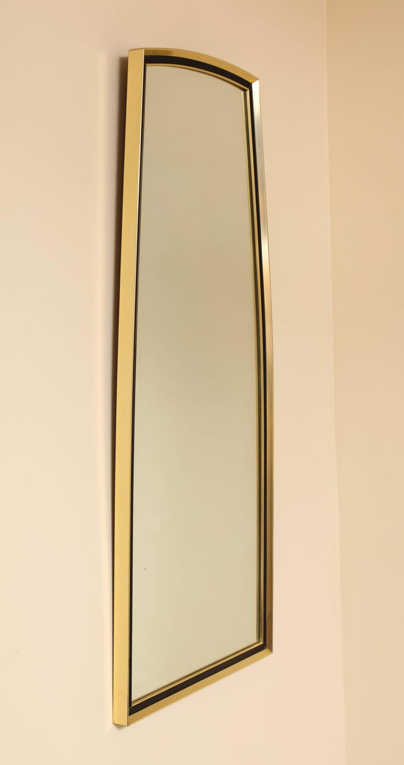 Gold And Metal Shaped Wall Mirror By Turner Manufacturing