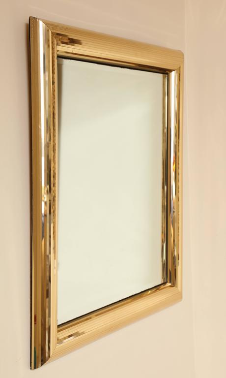 disco ball gold square mirror frame 2 - Metal Mirror Frame