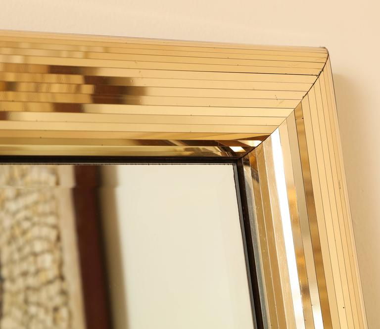 Disco Ball Gold Square Mirror Frame At 1stdibs