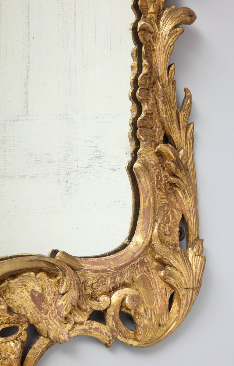 French rococo style 19th century giltwood and carved for French rococo period