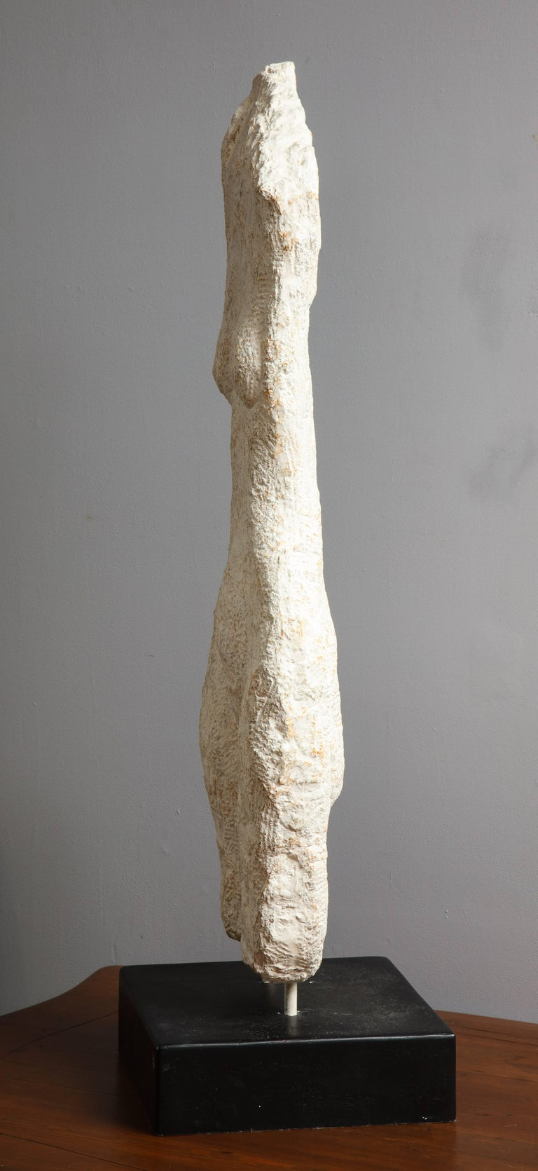 Mid-20th Century Modernist Stone Sculpture of a Female Nude Torso For Sale